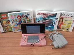 Nintendo 3DS rosa +4 jogos