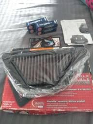 Kit Filtro De Ar Yamaha Xj6 + 4 Velas Ngk Iridium Cr9eix