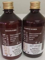 Kit Bomba Minox Cafein Shampoo + Máscara