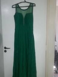 Vestido verde de festa ( com bojo )