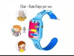 Relogio Celular Infantil Smartwatch,  Botão Segurança Câmera
