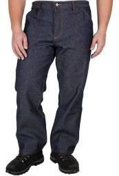 Calça Jeans Reforçada Para Trabalho Com Elástico GG