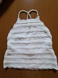 Cropped Crochê Branco