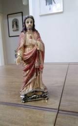 IMAGEM DE JESUS EM RESINA E FOLHAS DE OURO