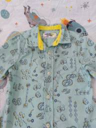 Título do anúncio: GenuineKids (OshKosh) Camisa Social manga curta 100% algodão bolsos 5 anos Menino Menina