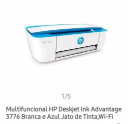 Multifuncional HP lilás e branca