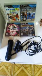 Kit move ps3... 150$.. 6 itens