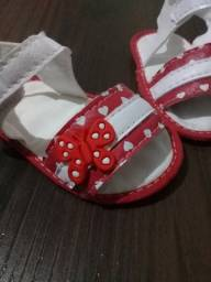 Sandália Borboleta Vermelha