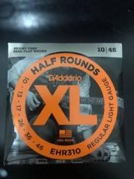 Título do anúncio: Cordas de Guitarra D'addario EHR 310 Half Rounds