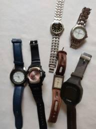 Lote de relógios masculinos antigos
