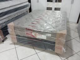 Conjunto box casal molas ensacadas