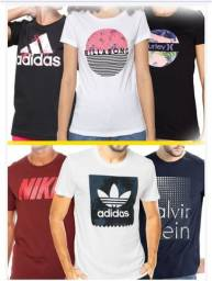 Camisetas Masculina e feminina kit C/ 50 Unidades.