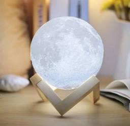 Luminária Lua 3D Luxo