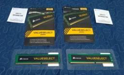 2x memoria RAM 4gb Corsair Value - Com 06 Meses de Garantia - Divido 12x - Leia Descrição