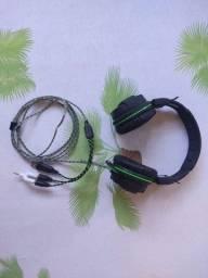 Warrior Fone De Ouvido Headphone Gamer Green Usb/ Led Light