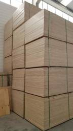 Chapa de madeira compensado cru 2400 x 1220 x 10mm