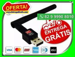 Contamos- Adaptador Usb Wifi 600mbps Antena-Qualidade