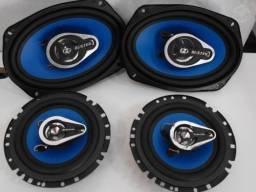 Kit alto falantes Buster BST-633D (6? 200 watts) + BST-4633 (4X6? 160 watts) Seminovos
