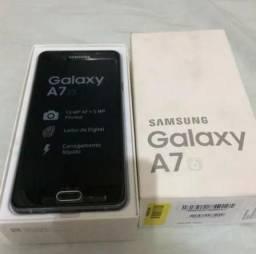 "Samsung Galaxy A7 5.5"" 16GB Dualchip Leitor Digital+ Ringke Fusion Case + Películas"