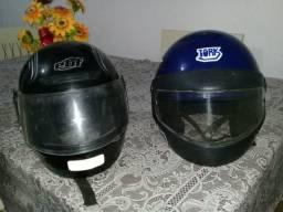 02 capacetes para desapegar