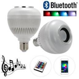 Lampada De Led Bluetooth Rgb 16 Cores Controle Remoto