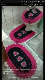 Jogo de banheiro em croche com 4 peças,a pronta entrega,valor R$100.00
