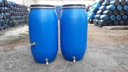 JR Tambores - Cisterna 150 Litros P/ Coleta Calha Chuva ou Maquina Lavar