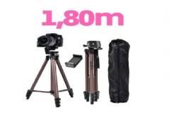 Tripé Câmera Profissional 1,80 Mts +bolsa e Suporte Celular - fotografo - estúdio