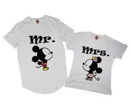 Camisas de Casal Mickey e Minnie