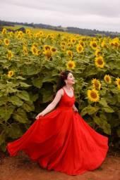 Vendo vestido vermelho