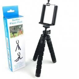 Mini Tripé Suporte Flexível para Celular Selfie Gravação