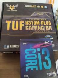 Vendo kit i3 9100f + Placa mae asus tuf h310
