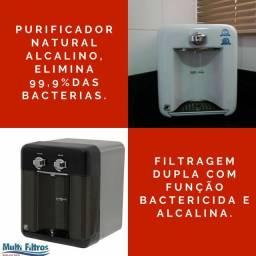 Purificador de água natural com função bacteriológica e função alcalina