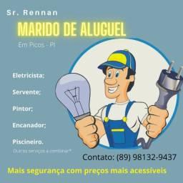 Eletricista, pintor, encanador, pedreiro e muito mais