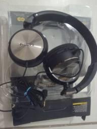 Fone De Ouvido Philips Shl 3165 C/mic. - Preto
