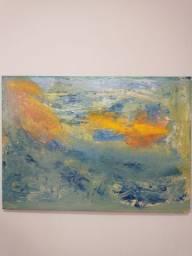 Quadro Abstrato Oceano
