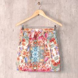 Zara mini saia floral