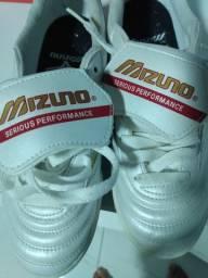 Chuteira Society Mizuno Morelia Club AS N - Branco<br><br>