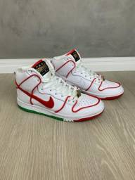 Nike sb Dunk High x Paul Rodriguez Branco, verde e vermelho