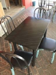 Mesa em ardósia 4 cadeiras, Nova