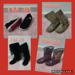 Lote de calçados 29 e 30