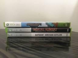 Jogos para Xbox360 minecraft, mortal kombat e batman