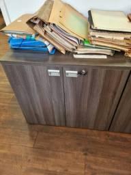 armario prateleira com ou sem portas 80*50*75 marelli marrom