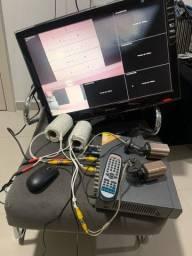 Kit dvr com duas câmeras analógicas Qsee