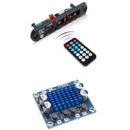 kit decodificador Bluetooth mp3 + placa de áudio amplificador  30w+ 30w