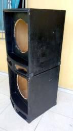 2 Caixa de som para autofalante de 15 polegadas