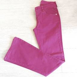 Calça jeans flare color