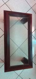 Mesa de centro mogno com tampo de vidro