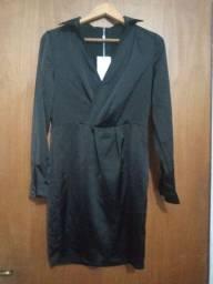 Vestido se tecido seda