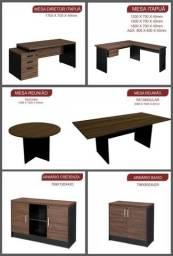 mesas, armários  de escritório madeira melhor preço de Goiânia